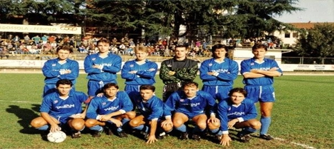 In piedi da sinistra: Sena, Vernoli, Merelli, Vianoli, Valentino, Caracciolo, accosciati: Luoni, Conte, Sala, Livorno, Belli.